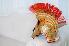 Helmet of a gladiator Stock Images