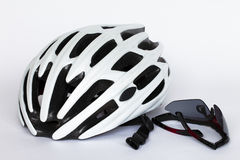 Helmet and glasses Stock Images