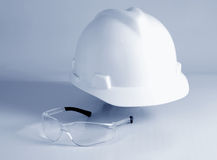 Helmet and glasses Royalty Free Stock Image