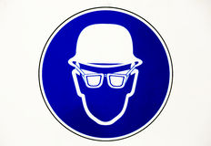 Helmet and glasses Protective Workwear Royalty Free Stock Image