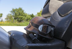 Helmet and glasses Stock Photography