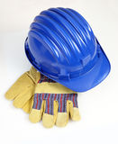 Helmet and gloves background Royalty Free Stock Images