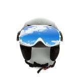 Helmet and goggles isolated on white Royalty Free Stock Photos