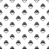 Helmet with goggles pattern, simple style Stock Photography
