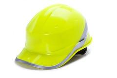Helmet. Green protective helmet on a white background Stock Photo