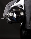 Helmet in hands Stock Photography