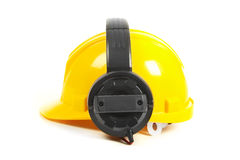 Helmet and headphones Royalty Free Stock Images