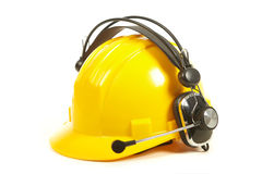 Helmet and headphones Royalty Free Stock Photography