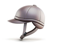 Helmet for horseriding  on white background. Side view. Royalty Free Stock Photos