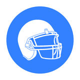 Helmet icon black. Single sport icon from the big fitness, healthy, workout black. Stock Image