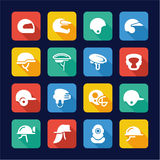 Helmet Icons Flat Design. This image is a  illustration and can be scaled to any size without loss of resolution Stock Photography