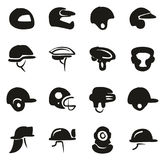 Helmet Icons Freehand Fill. This image is a illustration and can be scaled to any size without loss of resolution Stock Images