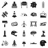 Helmet icons set, simple style Royalty Free Stock Photography