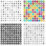 100 helmet icons set variant. 100 helmet icons set in 4 variant for any web design isolated on white stock illustration