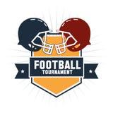 Helmet inside shield of american football design Royalty Free Stock Image