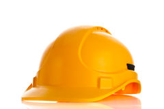 Helmet isolated on white background construction site security safety Stock Images