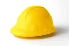 Helmet Isolated On White Background. Hard Plastic Construction Helmet Isolated On White Background Royalty Free Stock Photo