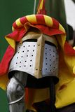 Helmet of a knight Stock Images