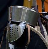 Helmet of a knight Stock Image