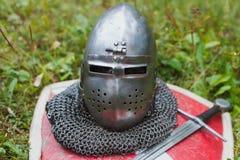 Helmet knight Royalty Free Stock Photo