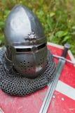 Helmet knight Royalty Free Stock Photos