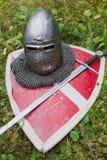 Helmet knight Stock Images