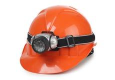 Helmet and lantern Royalty Free Stock Photo