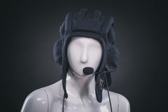 Helmet on mannequin Stock Images