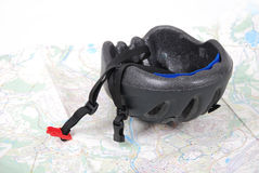 Helmet and map Royalty Free Stock Image