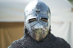 Helmet of medieval knight Stock Images
