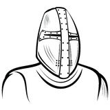 Helmet of the medieval knight Royalty Free Stock Photo