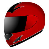 Helmet over white Stock Images
