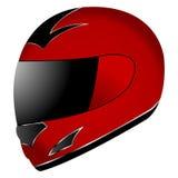Helmet over white. Red race helmet isolated over white background Stock Images