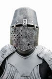 Helmet and plate armor of the medieval knight Royalty Free Stock Photos