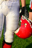 Helmet of a player Royalty Free Stock Photo
