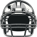 Helmet for playing football Stock Images