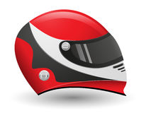 Helmet for a racer vector illustration Royalty Free Stock Images