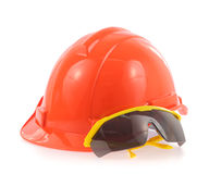 Helmet and Safety glasses Stock Images