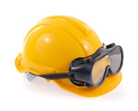 Helmet and Safety glasses Stock Photos