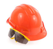 Helmet and Safety glasses Royalty Free Stock Image