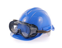 Helmet and Safety glasses Stock Photography