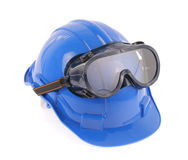 Helmet and Safety glasses Stock Image