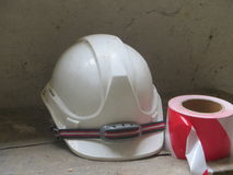 Helmet. Safety helmet for workers working on construction site Stock Photos