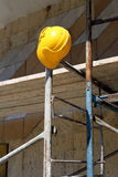 Helmet  on  scaffold Stock Photography