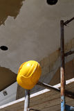 Helmet  on  scaffold Stock Image