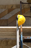 Helmet  on  scaffold Stock Photo