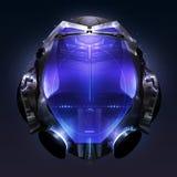 Helmet. Sci fi helmet design with led lights vector illustration