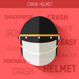 Helmet for self protect. Vector icon illustration background. Colorful template for you design, web and mobile Royalty Free Stock Photography