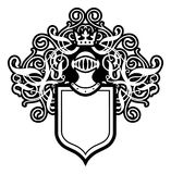 Helmet And Shield. Coat Of Arms With Helmet And Shield Stock Image
