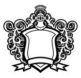 Helmet And Shield. Coat Of Arms Helmet And Shield Royalty Free Stock Images
